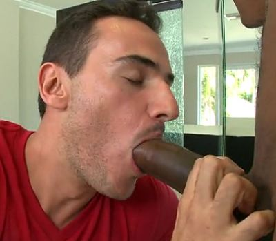 Black dude with a big dick fucked a gay hunk