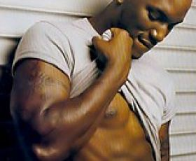 Black male celebrities showing their perfect bods