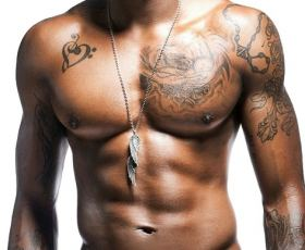 Collection of black male celebs topless