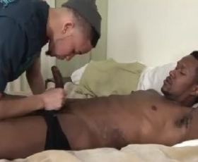 Sexy black thugs oral sex fun in bed